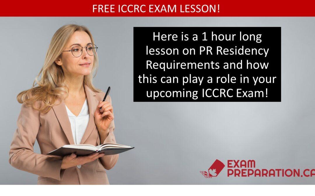 Free ICCRC Exam Lesson